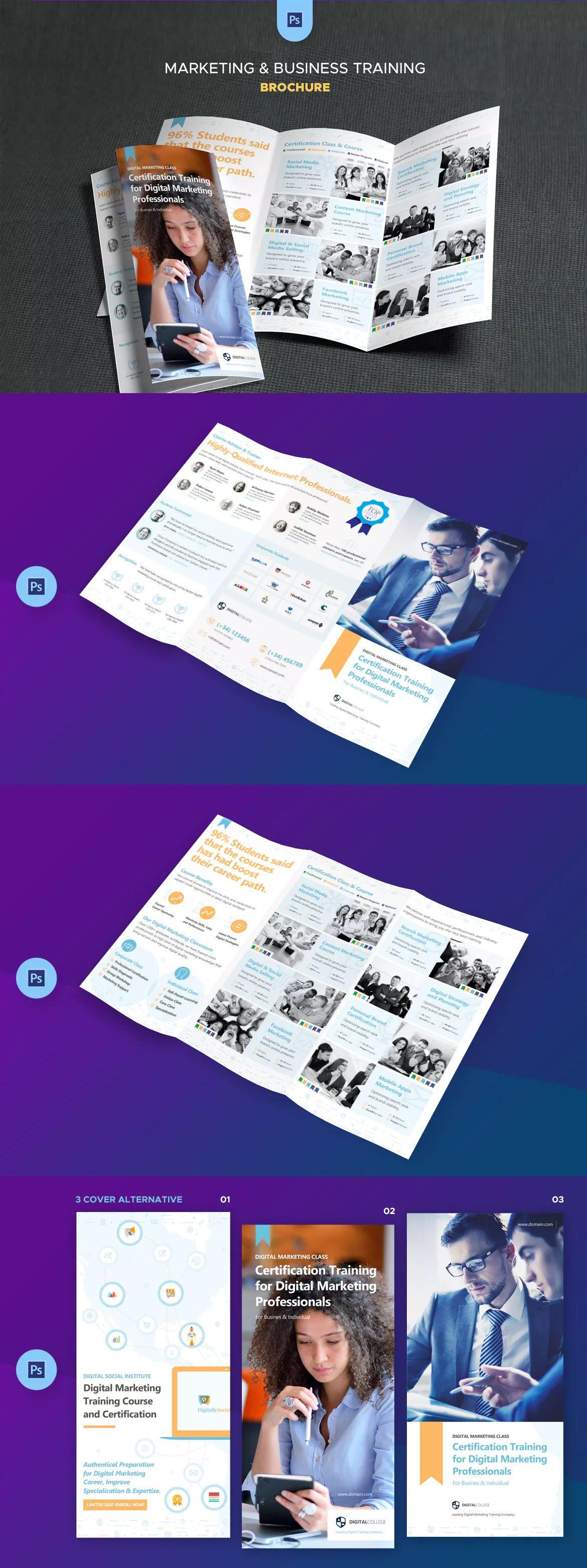 Marketing Business Training Brochure Template Psd Brochure