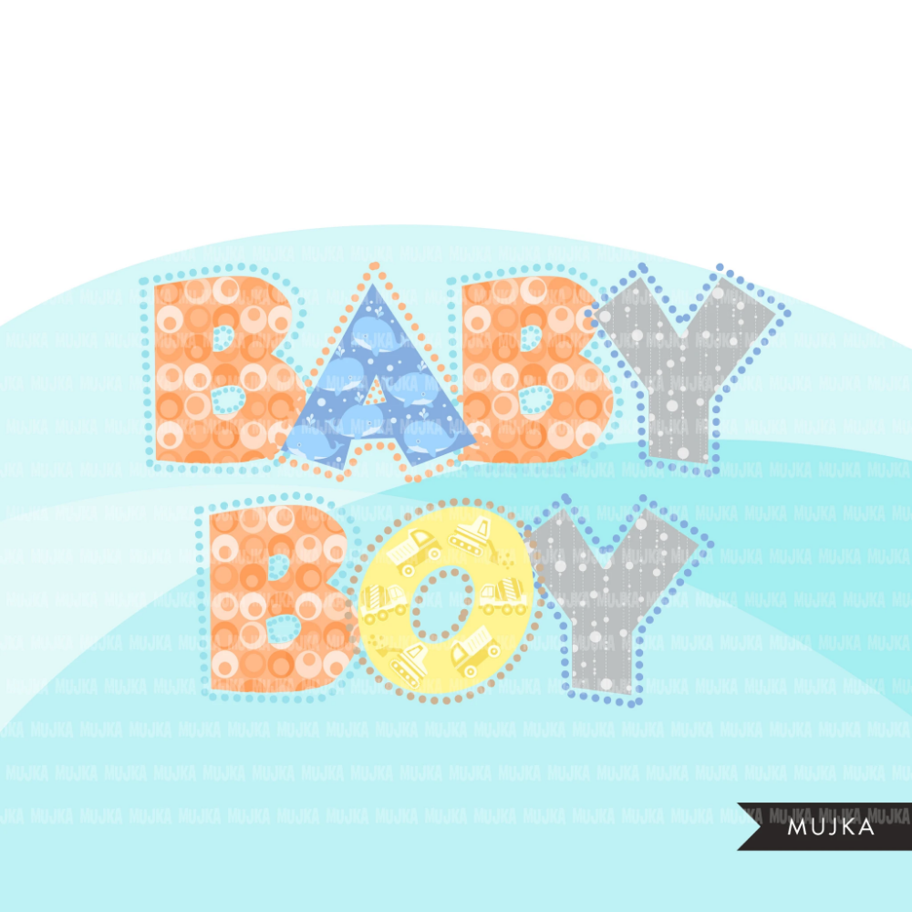 Baby Boy Alphabet Clipart Dotted Lines Stackable Boy Birthday Baby Shower Letters And Numbers Png Graphics Alphabet Clipart Clip Art Lettering Alphabet