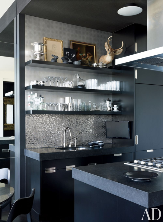 10 Beautiful And Unusual Kitchens Celebrity Kitchens Black