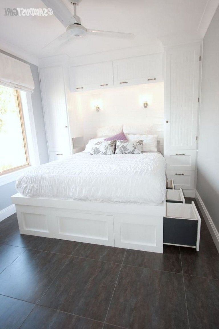 65 Clever Bed Storage For Small Space Ideas 65 Clever Bed Storage For Small Space Ideas Stora In 2020 Small Guest Bedroom Small Master Bedroom Small Room Bedroom