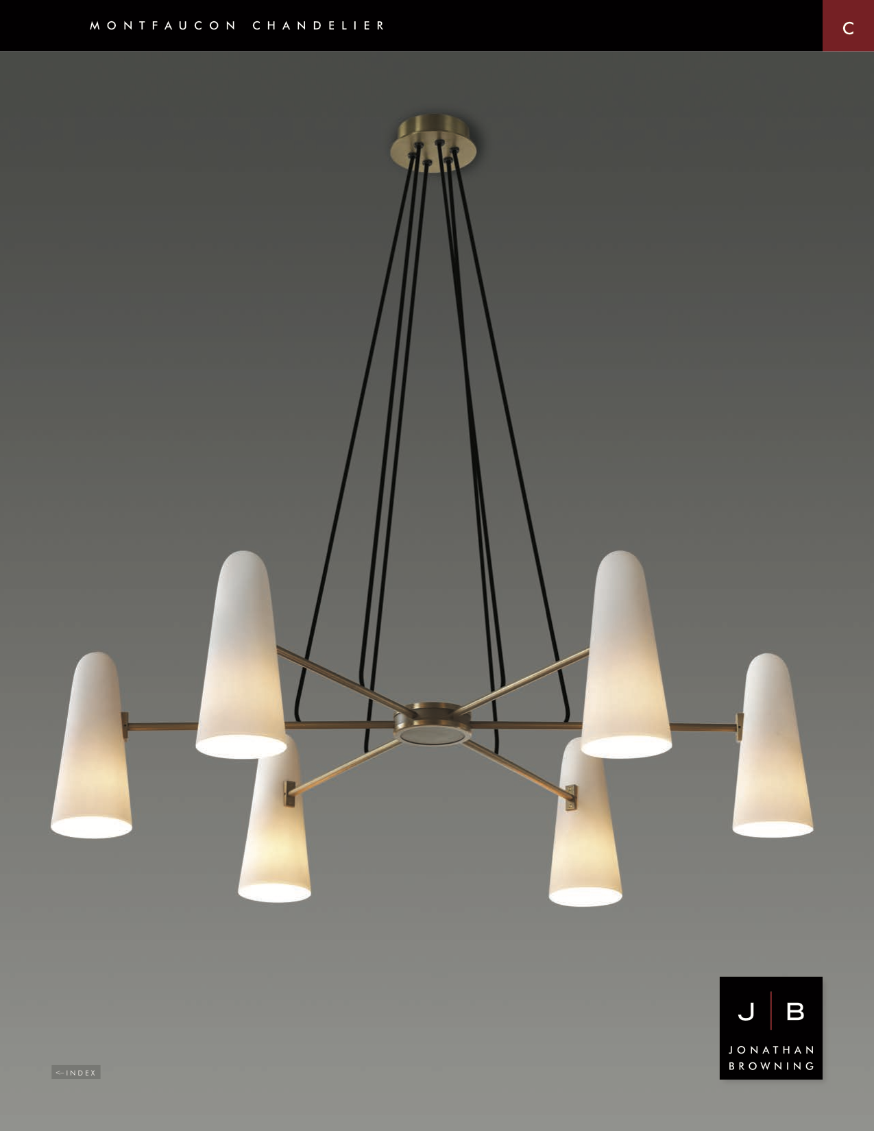 Montfaucon 6 Light Chandelier White Porcelin Shade