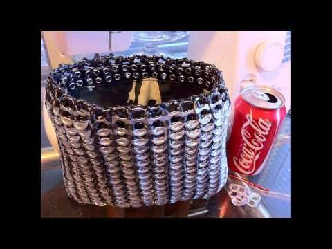Handmade Aluminum Soda Pop Tab Handbag During the Making Being Complete