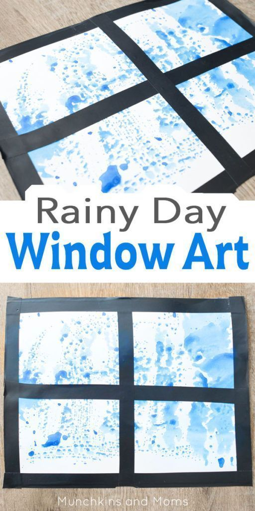 Rainy day? Set up a quick art project for your kids! This ...