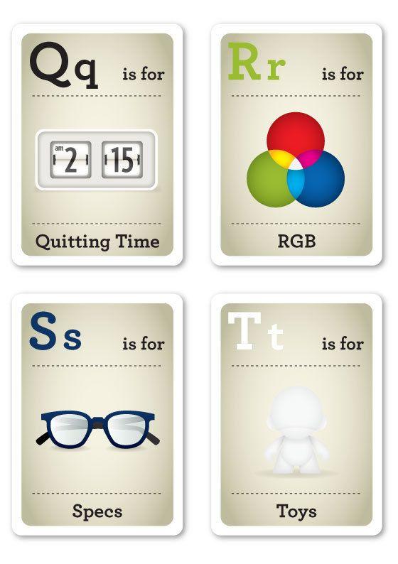Creative ABC Flash Cards for the Modern Baby - My Modern Metropolis