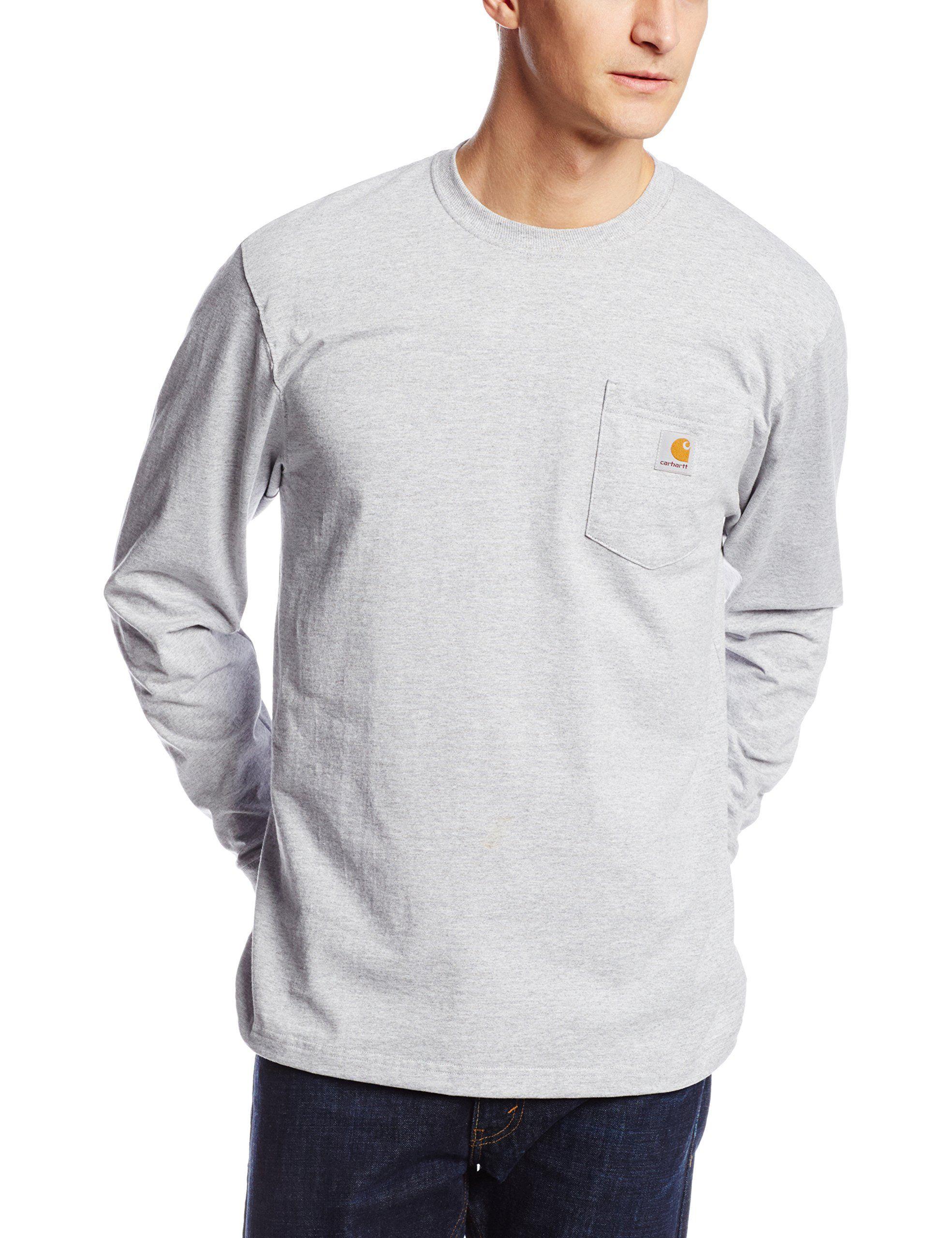 Robot Check Mens Workwear Long Sleeve Tshirt Men Long Sleeve