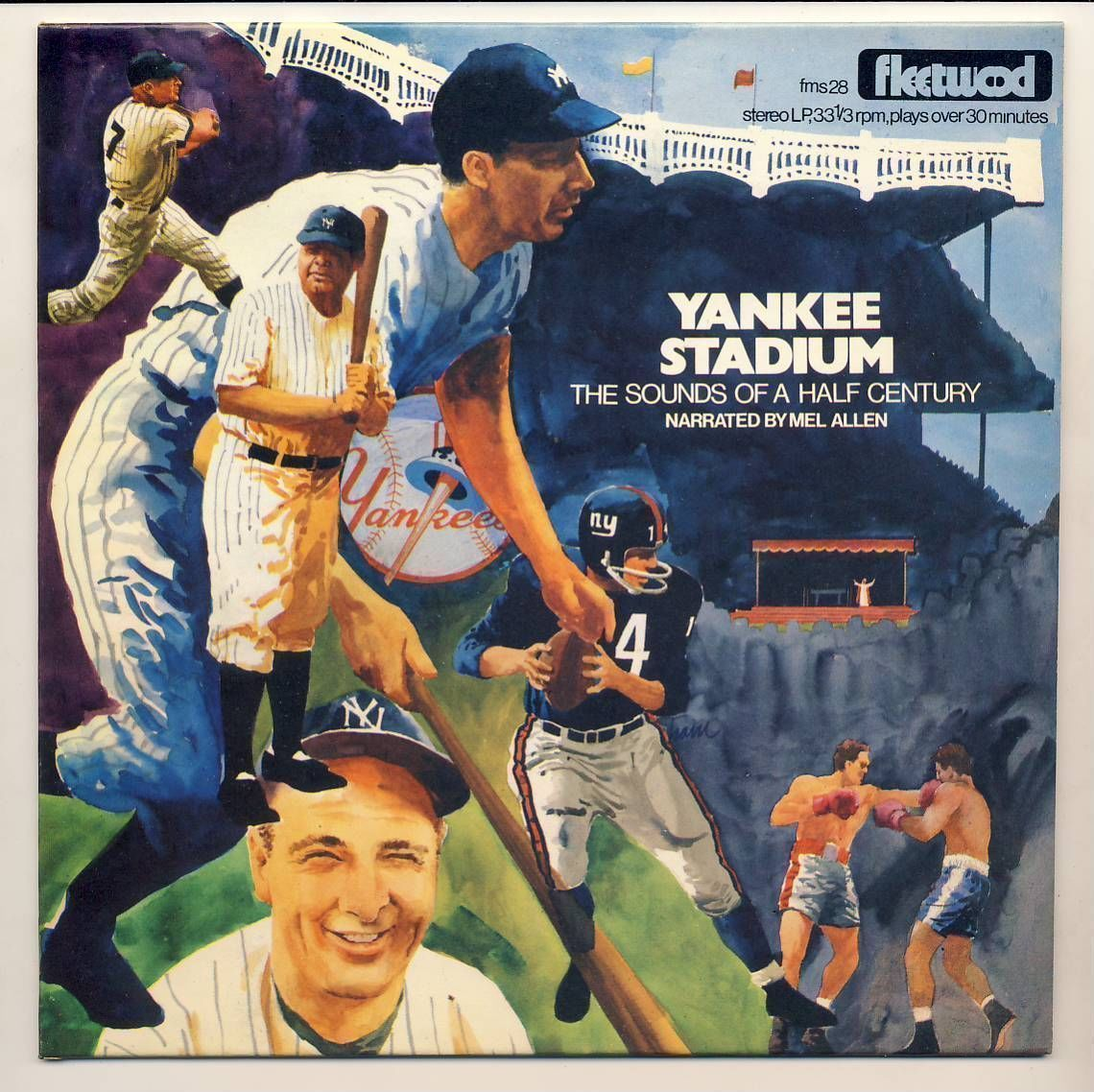 Album Cover For Yankee Stadium The Sounds Of Half A Century 1978 Narrated By Mel Allen With Images Yankee Stadium Yankees Stadium