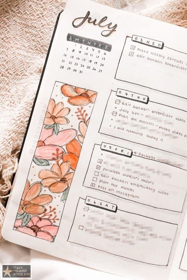 Flowers Bullet Journal , Flowers Bullet Journal