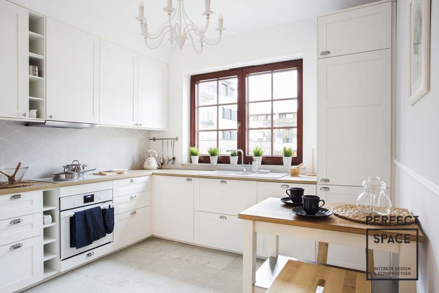 Foorni Pl Projekt Perfect Space Biala Kuchnia Z Drewnianym Blatem Kitchen White Modern Furniture Interior Design White Kitchen Kitchen Home Decor