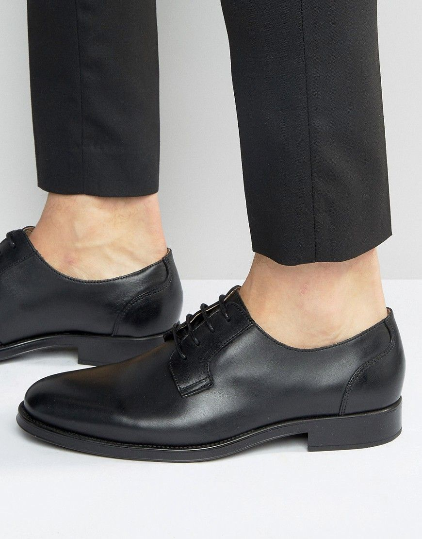 Leather Derby Shoes - Black Selected Cheap Prices Reliable New Cheap Sale Low Cost Collections Online Amazing Price Sale Online mRjq6D7