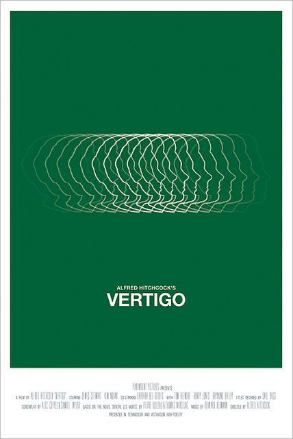 Alfred Hitchcock's Vertigo is part of Movie posters, Movie posters design, Alternative movie posters, Vertigo movie, Vertigo poster, Hitchcock - vertiginous imagery that Saul Bass used in his original poster  Green was chosen because it is associated throughout the film with death  (www associatidesign com)