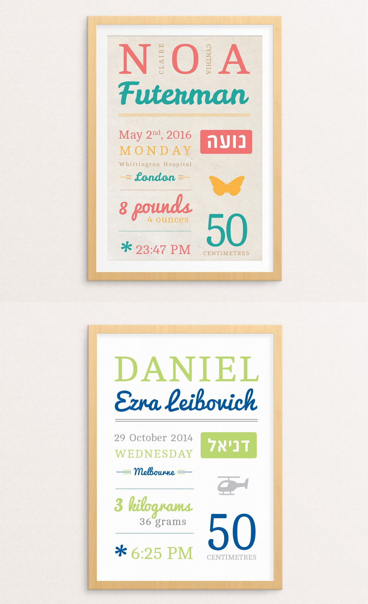 Perfect Gift For Jewish Baby Naming Ceremony Birth Stats