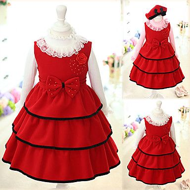 Youth Knee Length Red Dress