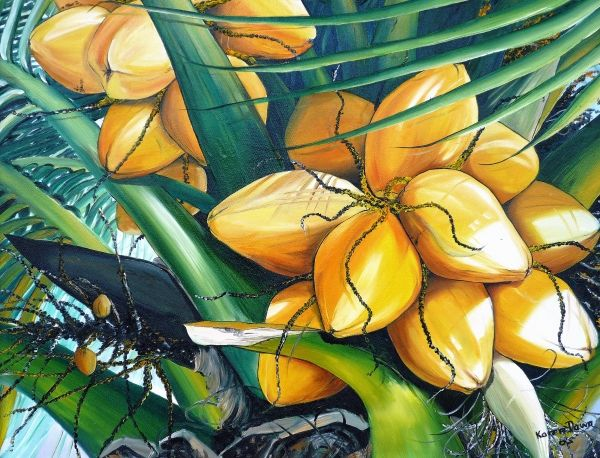 Yellow Coconuts Oil Painting App Painting Oil Painting For
