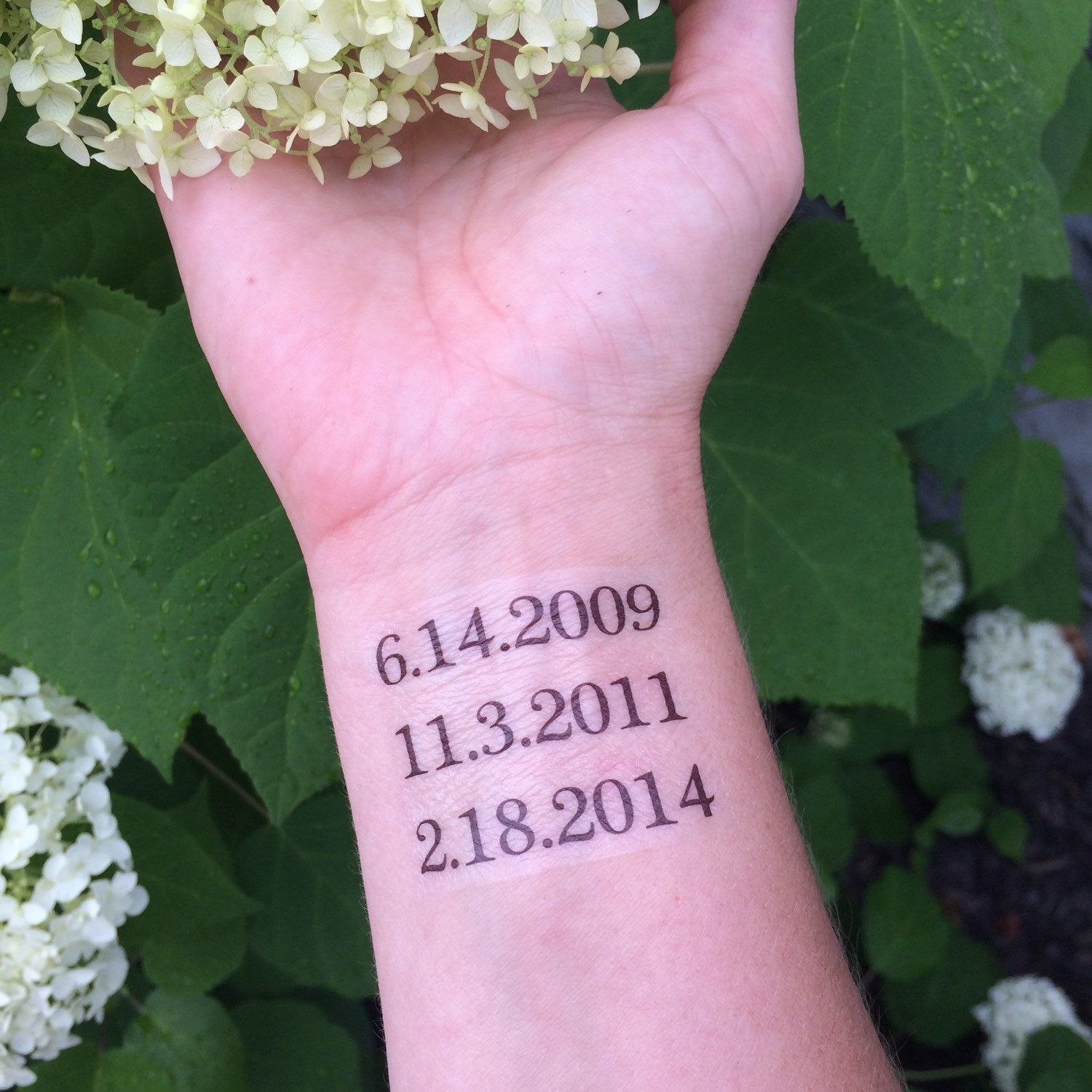 Popular Items For Personalized Date On Etsy Tattoo Ideas