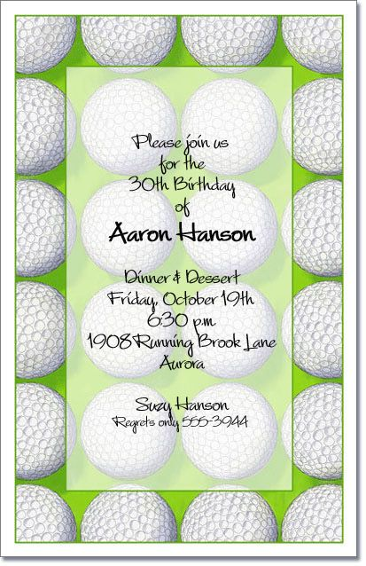 Golf Invitations Score Golf Party Invitations are great for a – Wording for Bachelor Party Invitations