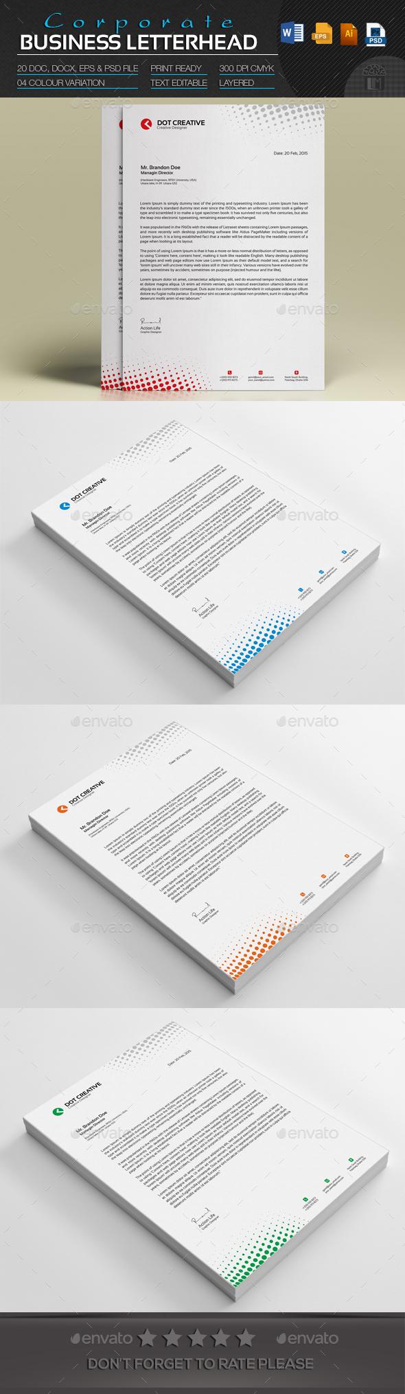 Corporate business letterhead letterhead corporate business and corporate business letterhead spiritdancerdesigns Choice Image