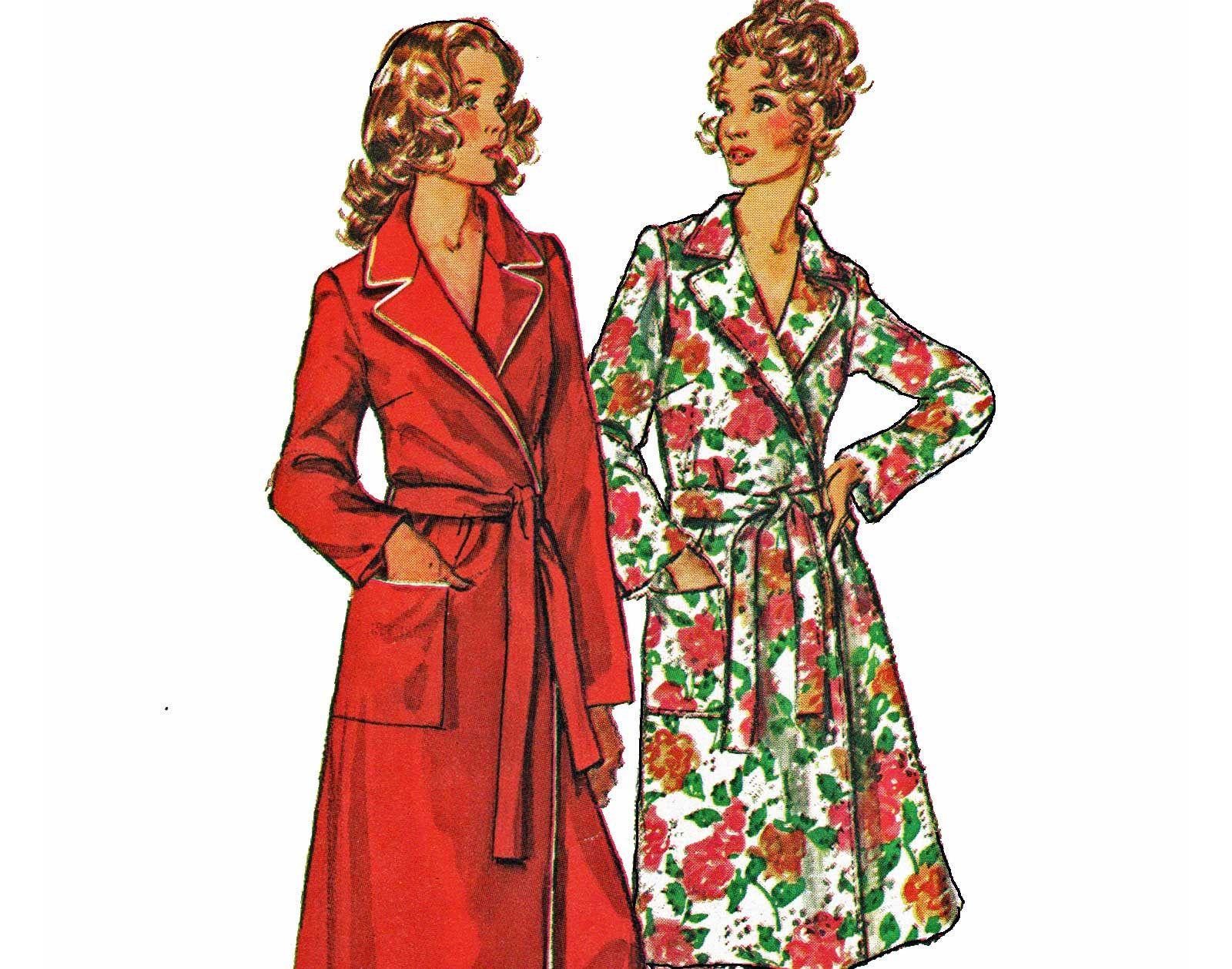 Plus Size Robe Pattern Full Length Floor Length Womens Robe Pattern ...