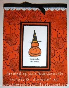 Cards- Stampin Up- Halloween on Pinterest | Paper Crafts ...
