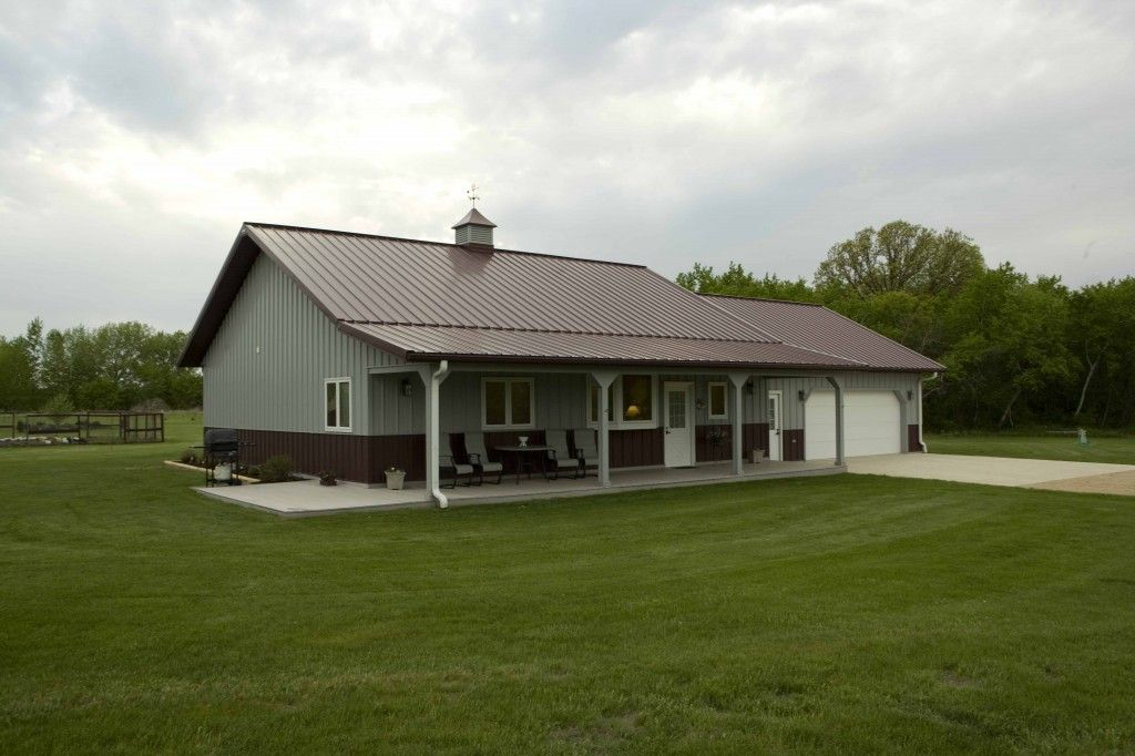 Steve kathy 39 s home morton buildings 3400 ideas for Metal barn homes plans
