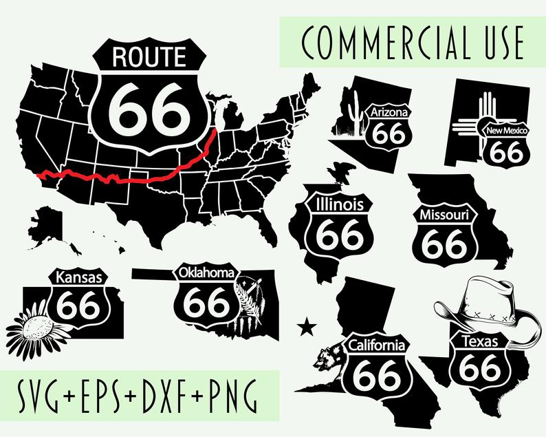 U.S. Route 66 Road Drawing Clip Art, PNG, 1008x1054px, Us Route 66, Area,  Black, Black And