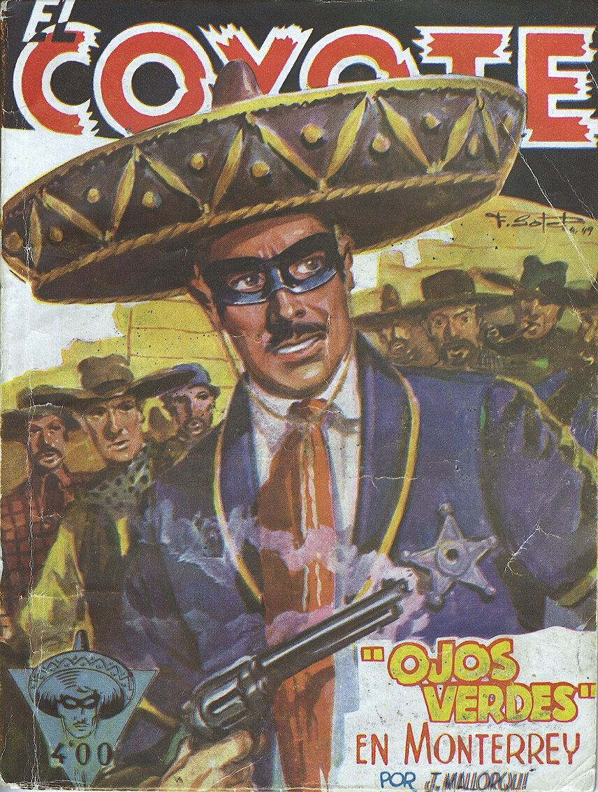 """""""Ojos verdes"""" en Monterrey. Ed. Cliper, 1949 (Col. El Coyote ; 82)"""