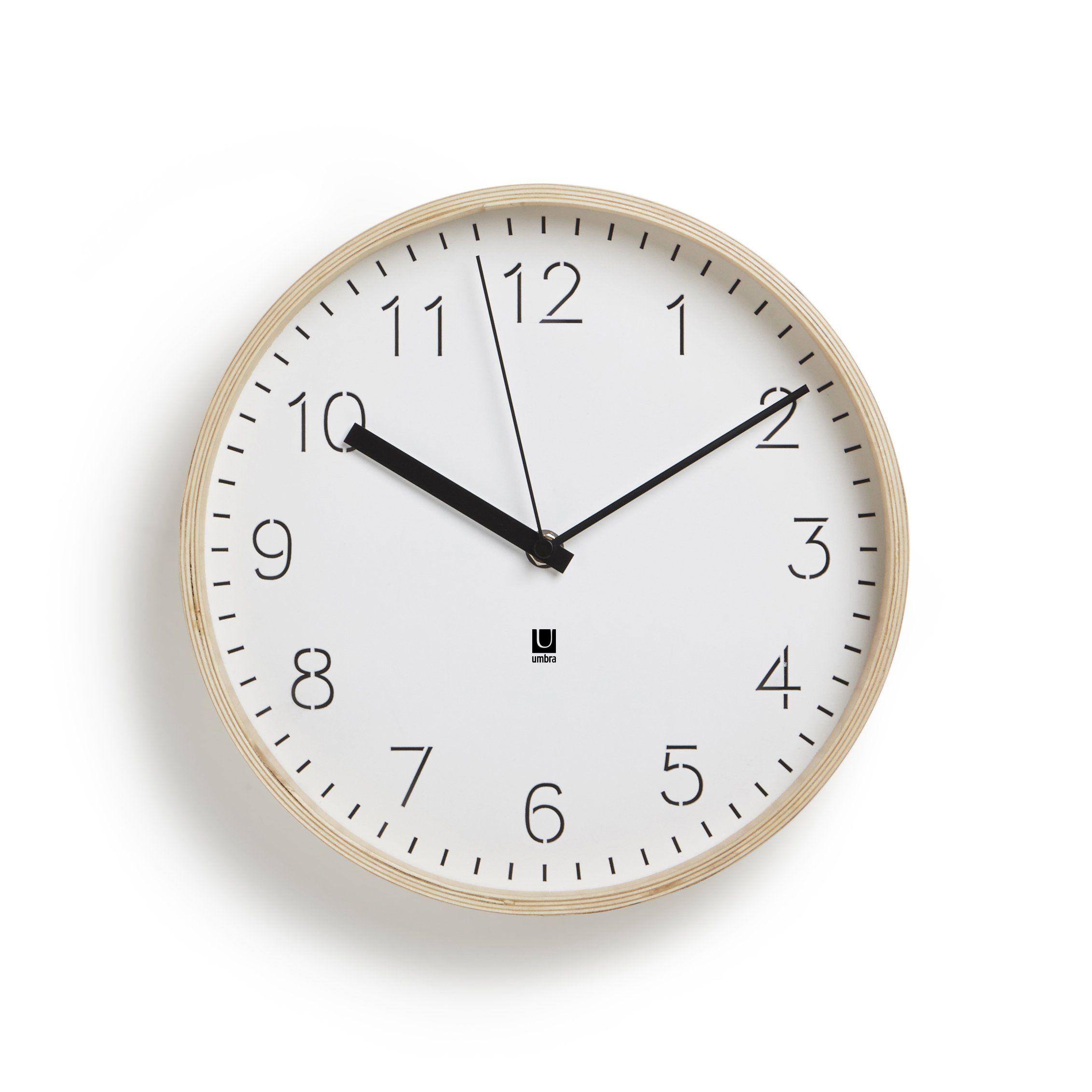 Umbra Rimwood Wall Clock Decorative Wooden Wall Clock Made From Natural Wood Doubles As Wall Decor W Wall Clock Scandinavian Clocks Contemporary Wall Clock