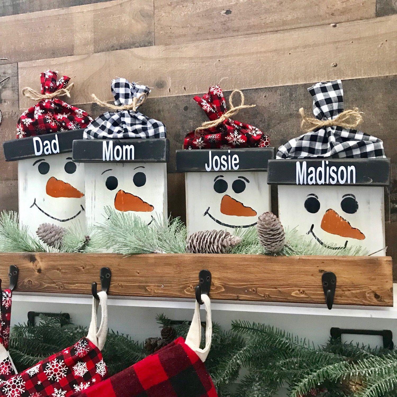 Personalized Christmas Stocking Holder, Christmas Decor