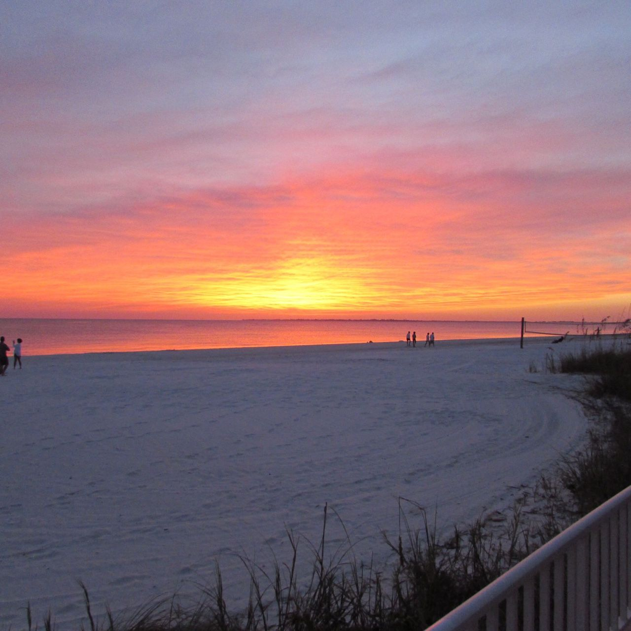 The Sun Is About To Set On Fort Myers Beach By Edison Beach House