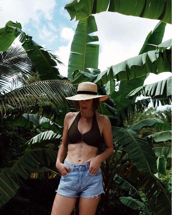 Lisa Dengler wearing her Heidi Klein Manda Island D-G U Bar Bikini