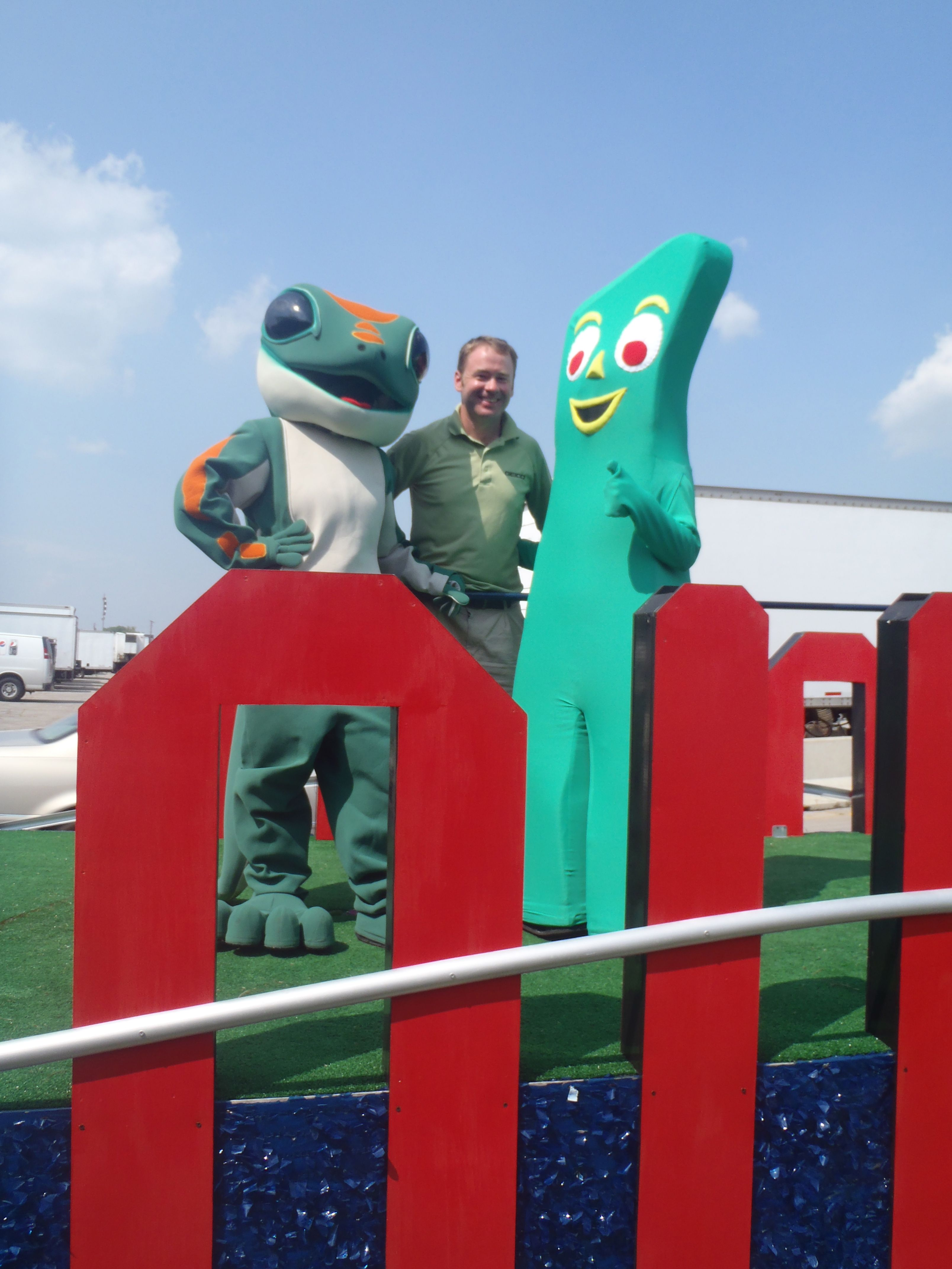 The GEICO Gecko and Gumby at the Ohio State Fair