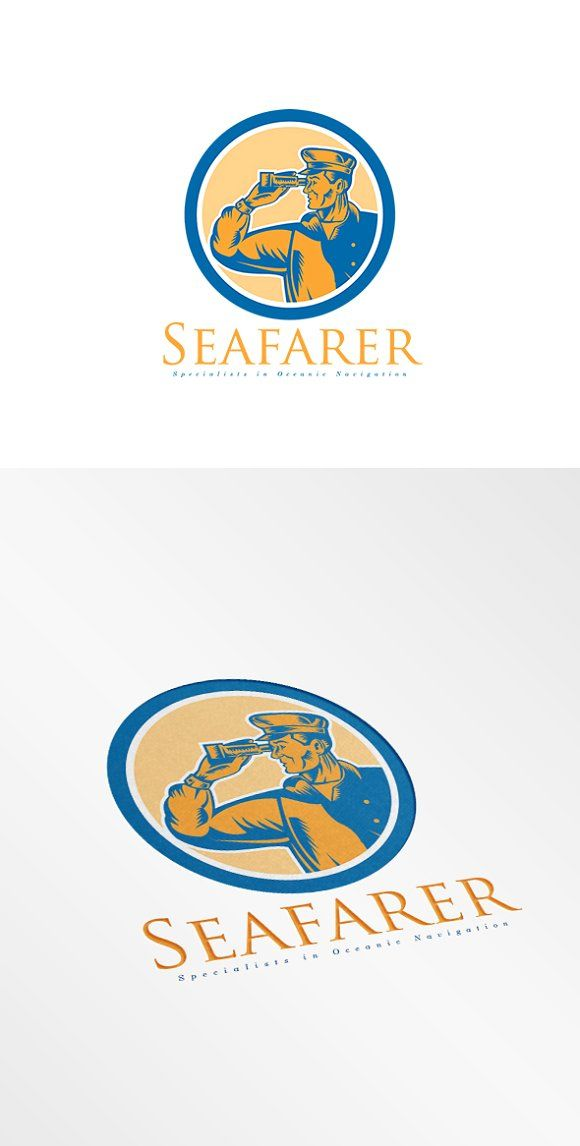 Seafarer Oceanic Navigation Logo by patrimonio on @creativemarket
