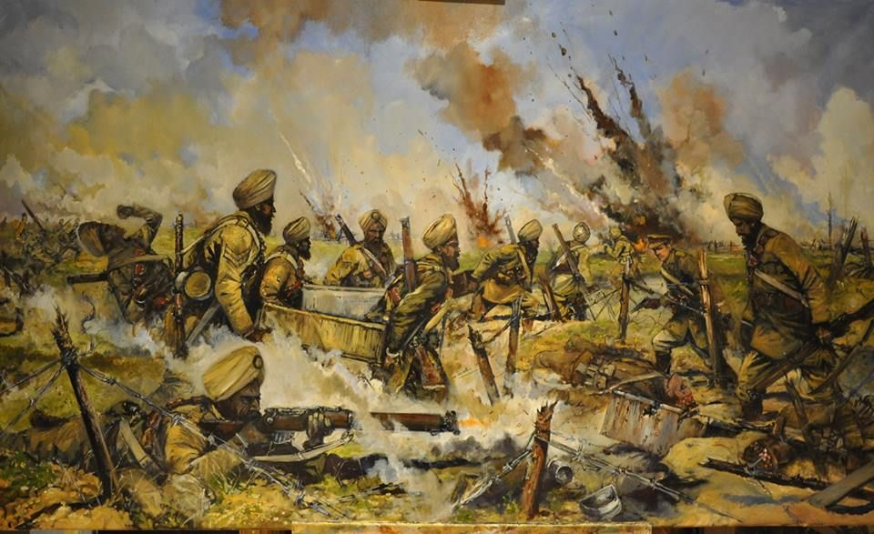 Sikhs at Festubert 1915