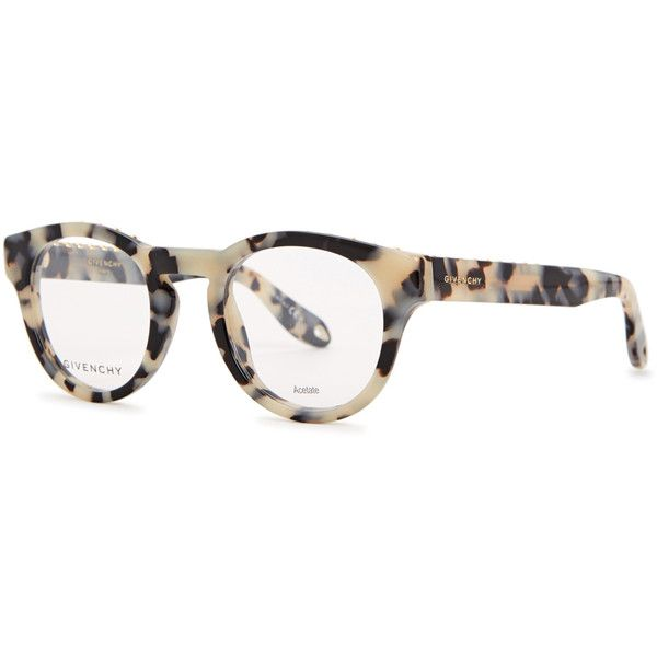 e463107e737 Givenchy Tortoiseshell round-frame optical glasses ( 350) ❤ liked on  Polyvore featuring accessories