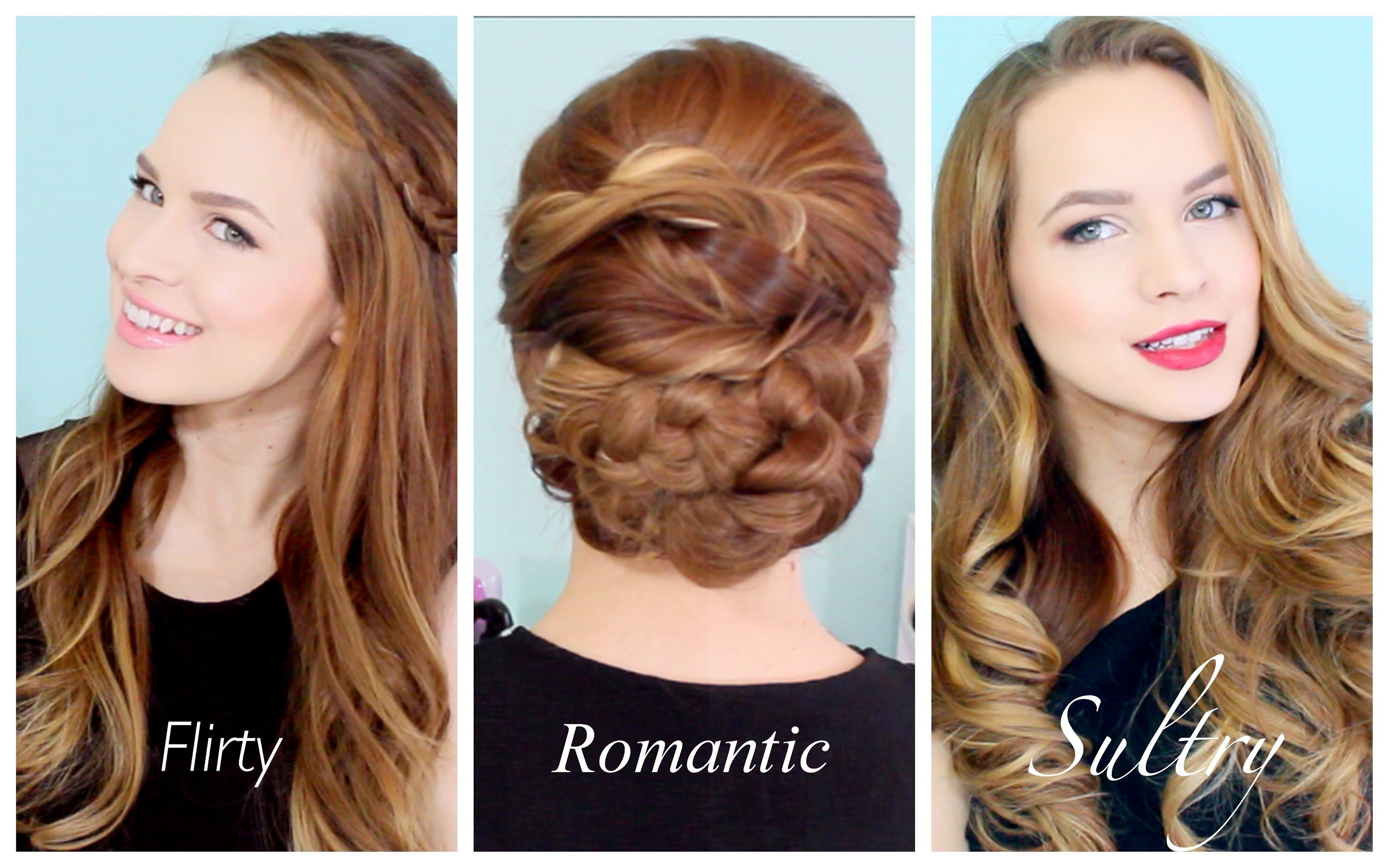3 valentines hairstyles for any occasion!! | hair | pinterest | hair