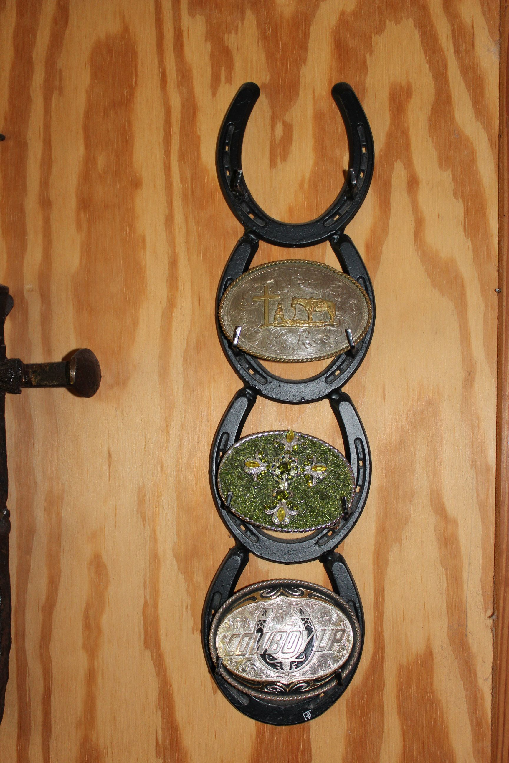 Cool Buckle Display Idea Horseshoe Decor