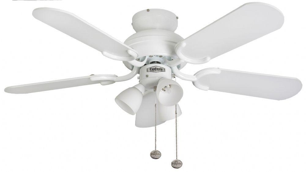 White Ceiling Fan Light 111726