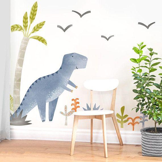 Theo the Dinosaur - Fabric Wall Decal - Dino Collection - Mej Mej #dinosaurnursery