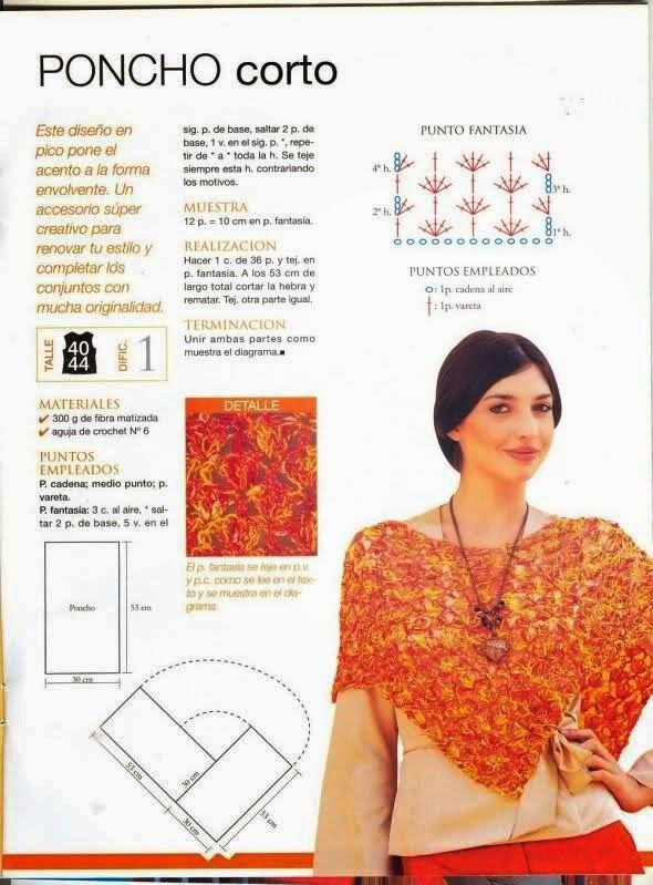 Pin de María Elena González en ponchos | Pinterest | Buena ...