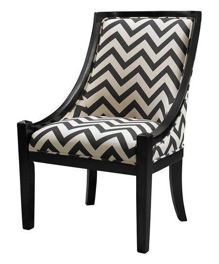 Best Black Zigzag Carnegie Chair Chevron Chair 400 x 300