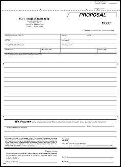 Contract Proposal Template Free Free Print Contractor Proposal Forms  The Free Printable .