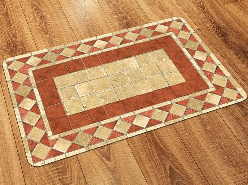 Faux Flooring Printed Tile Floor Mat Printed Tile Tile Floor Flooring