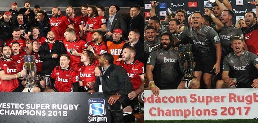 The Crusaders, Super Rugby Team Players Celebrate Their