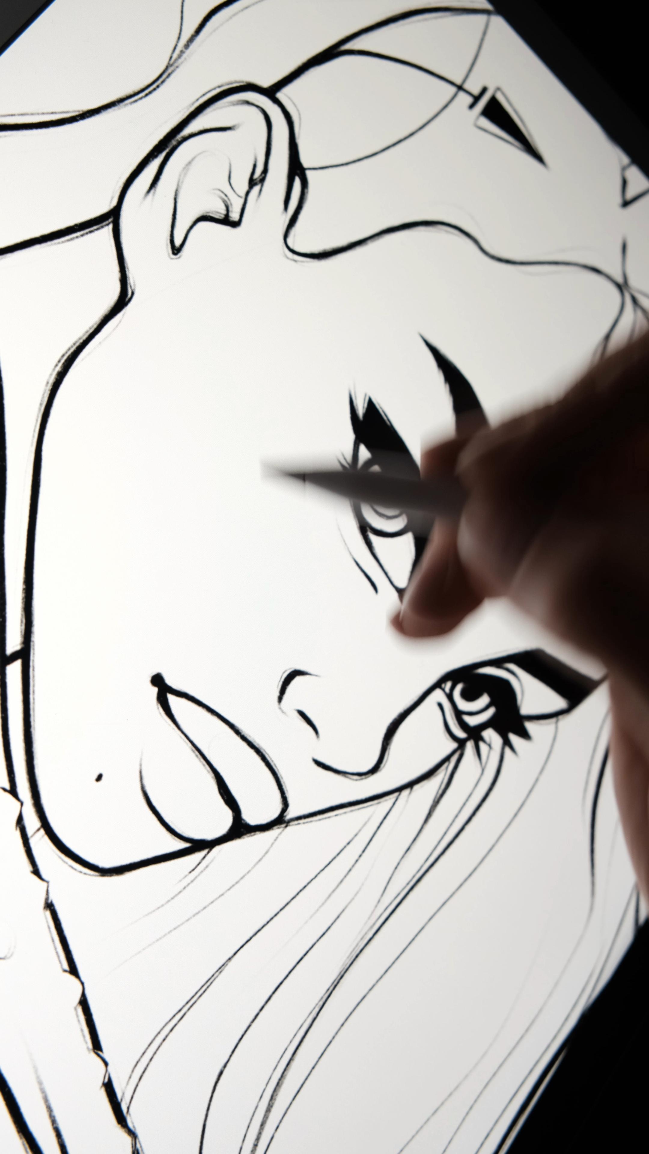 Digital Art Coloring A Drawing On Procreate By Alicjanai Brushes Basic Portrait Brush Set Procreate Digital Art Tutorial Art Tutorials Digital Drawing