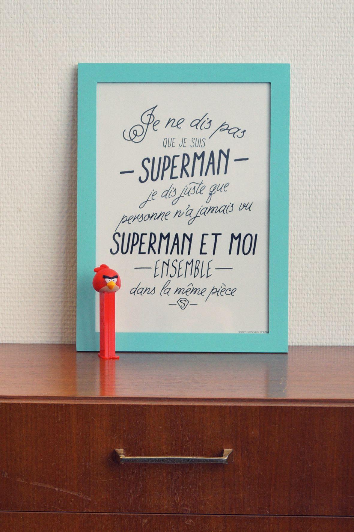 Affiche super h ros maison - Deco chambre super heros ...