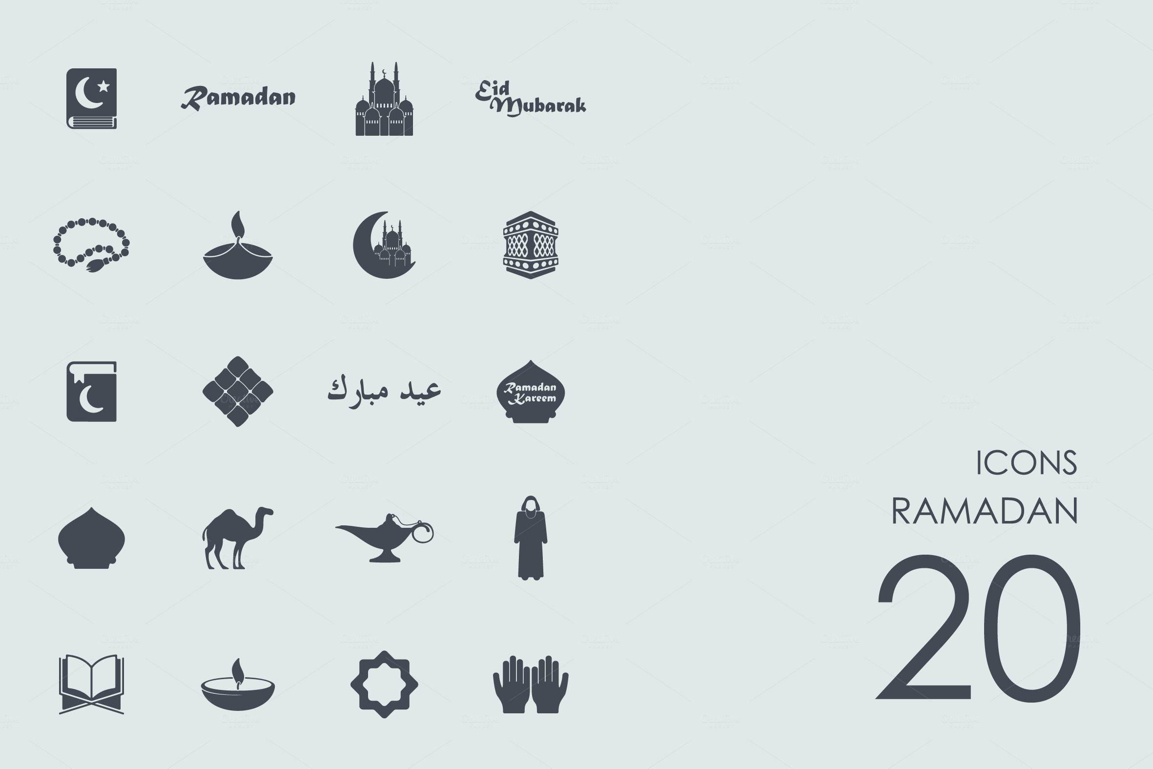 Ramadan icons by Palau on creativemarket