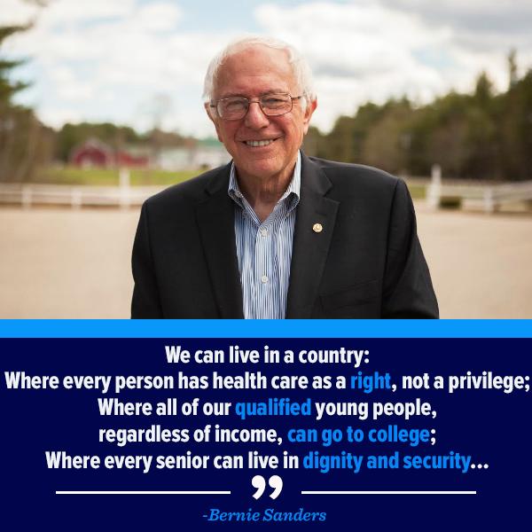 Agree with Bernie?