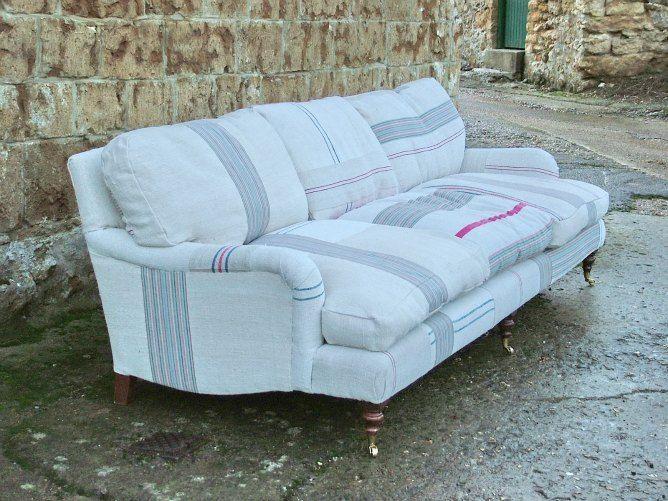 Lino de rayas vintage telas envejecidas y lavadas patchwork - Tela tapizado sofa ...