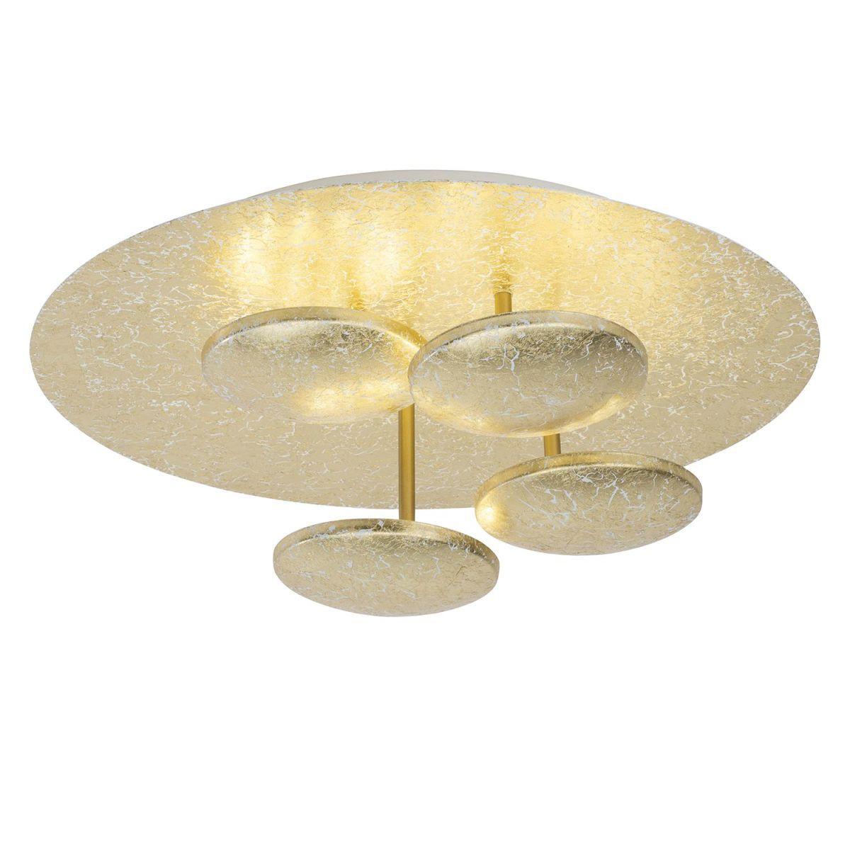 EEK A+, LED-Deckenleuchte Pharaoh - Eisen - 4-flammig - Gold ...