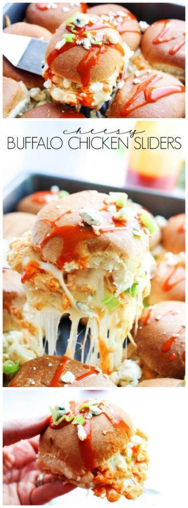 Cheesy Buffalo Chicken Sliders - A Dash of Sanity #sponsored
