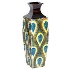 Peacock Metal Floor Vase at Kirkland's